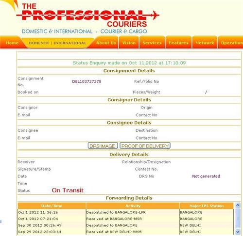 Professional Courier Consignment